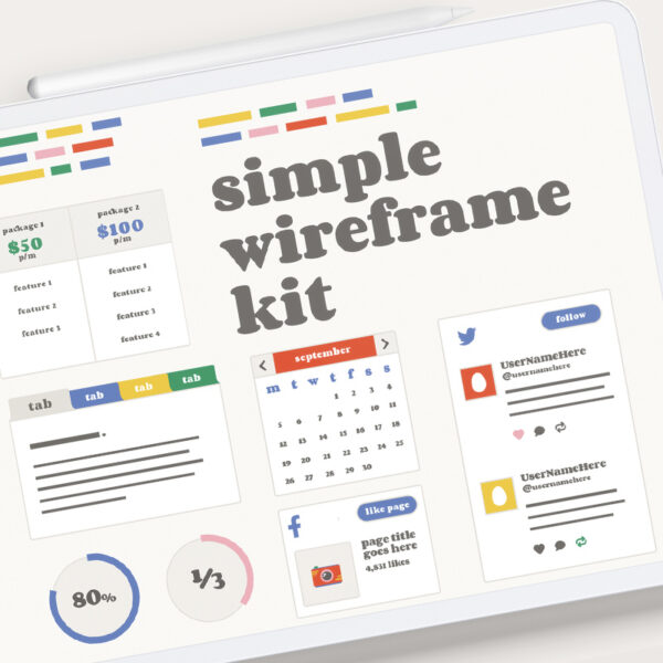 Simple wireframe kit